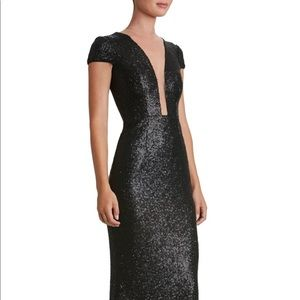 Dress the Population Michelle Black Sequin Gown